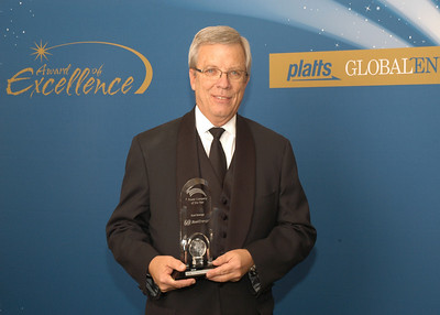 Richard Kelly, Chairman and CEO of Xcel Energy, accepts the 2010 award for Power Company of the Year.
