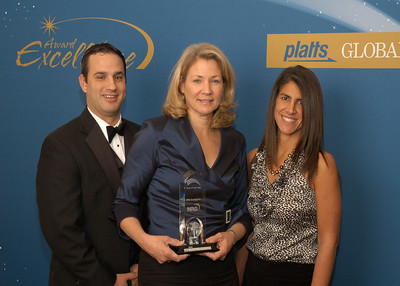 Brian Curci, Securities and Finance Counsel, Denise Wilson, Executive Vice President and CAO and Nahla Azmy, Director of Investor Relations from NRG Energy, accept the 2010 award for Deal of the Year.