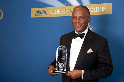 Christopher C. Womack, President, External Affairs for Southern Company accepts the 2011 award for Power Company of the Year.