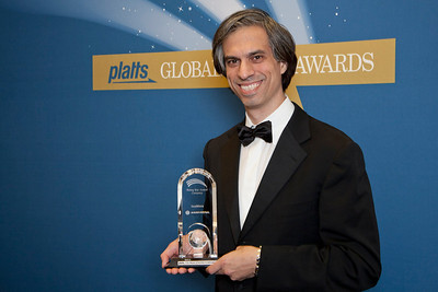 Marc Weiss, Chief Investment Officer for Open Field Captial, LLC, accepts the 2011 Rising Star Award - Company on behalf of SeaMicro.