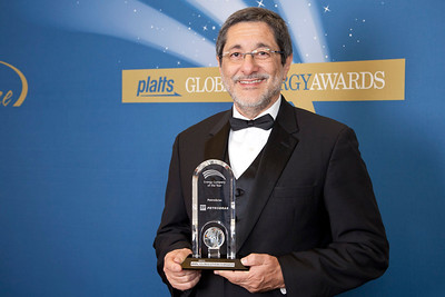 José Sergio Gabrielli, CEO of Petrobras, accepts the 2011 award for Energy Company of the Year.