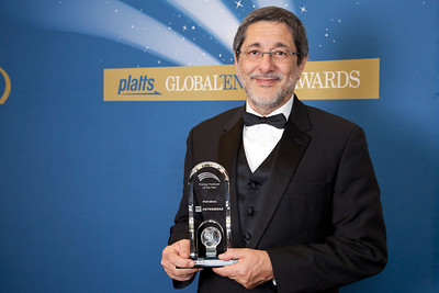 José Sergio Gabrielli, CEO of Petrobras, accepts the 2011 award for Energy Producer of the Year.