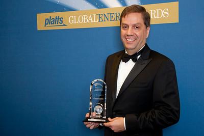 Luiz de Mendonca, CEO of Braskem America, accepts the 2011 Petrochemical and Blendstock Innovation Award.