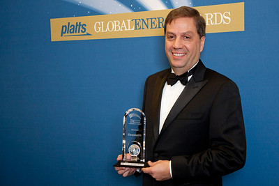 Luiz de Mendonca, CEO of Braskem America, accepts the 2011 Petrochemical and Blendstock Innovation Award.