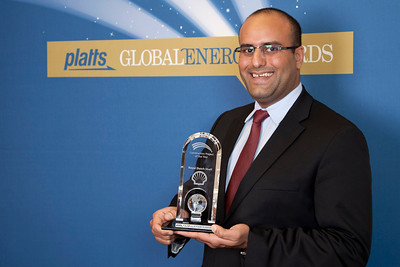 Khalid Al-Mana, Commercial Advisor for Shell, accepts the 2011 award for Construction Project of the Year.