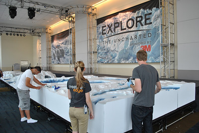 The 3M Explore the Uncharted Challenge gets final touches.
