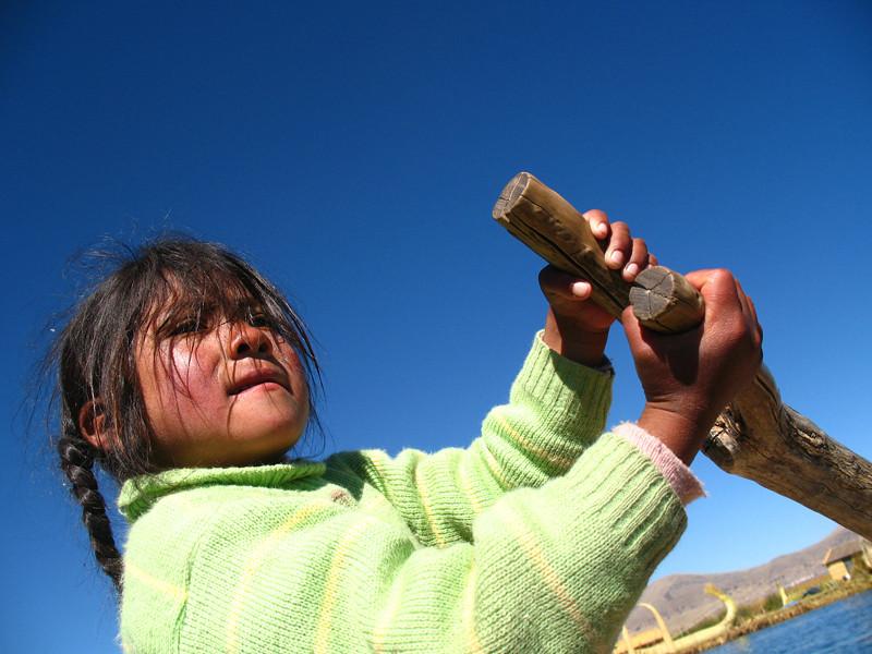"""Floating Islands of Uros, Lago Titicaca, Peru"""