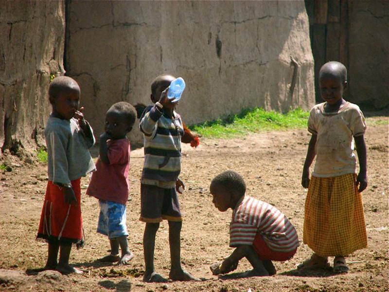 """Masai Children at Play"""