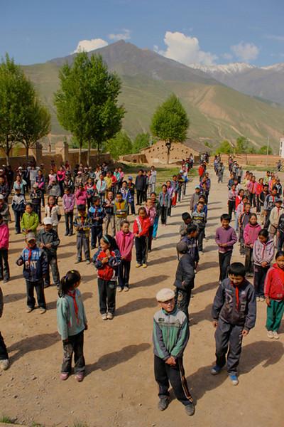 """Morning Exercises at a Tibetan School"""