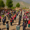 """Morning Exercises at a Tibetan School"""