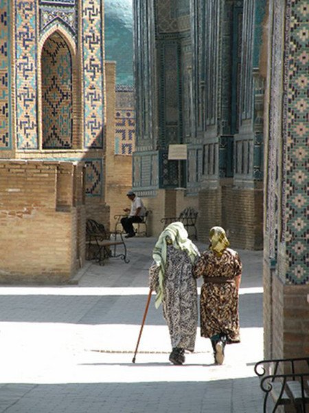 """""""Afternoon Stroll in the Shah-i-Zindah Tombs"""""""