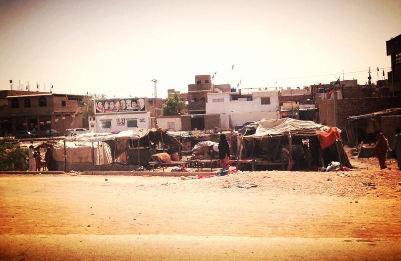 """Tents in Jamshoro, Sindh"""