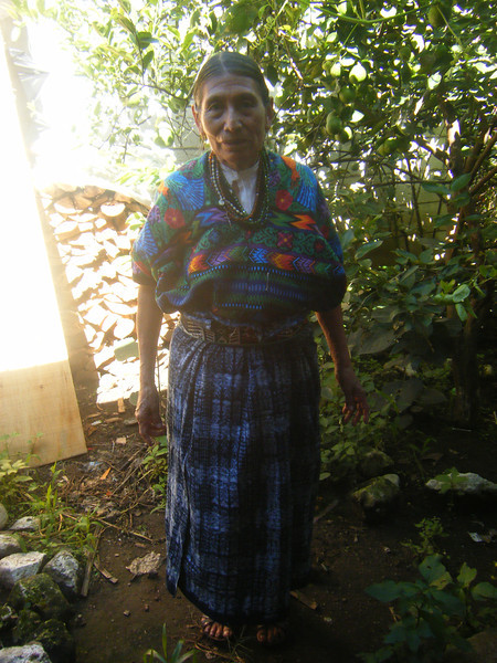 Neha Kamat<br /> Emory College of Arts and Sciences<br /> <br /> Location: Guatemala<br /> <br /> This woman is a wearing traditional indigenous clothing - a huipil from San Antonio Los Fuegos, near Antigua, Guatemala. She is our host grandmother, and is a great-grandmother to eight.