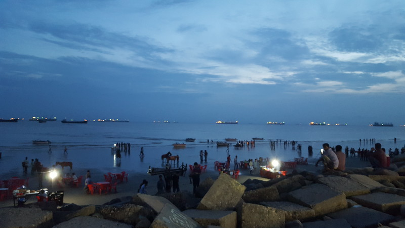 Dusk on the Patenga Sea Beach