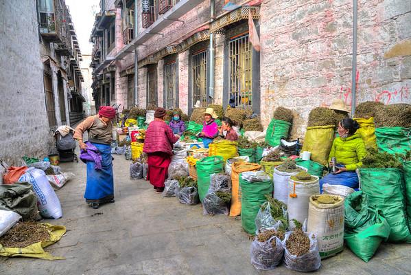 Selling Herbs Lhasa