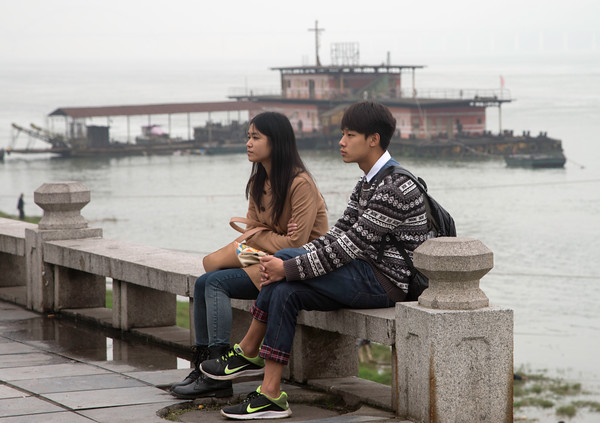 Young couple on the Banks of the YangTze