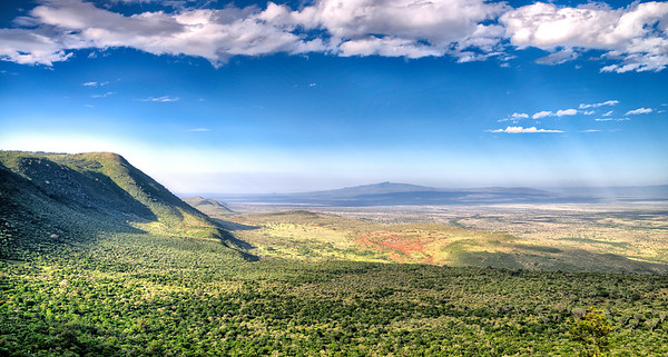 Entering the Great Rift Valley from the East