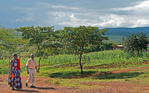 Rich Couple on Their Property, Tanzania