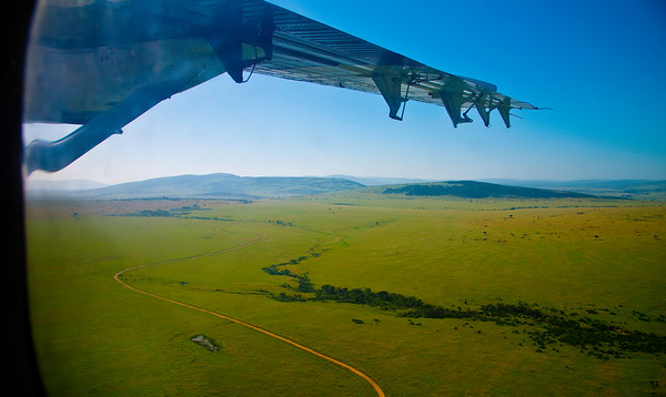After takeoff in Masai Mara -- On the Way Back to Nairobi