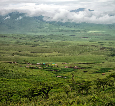 Maasai Village near Ngorongoro