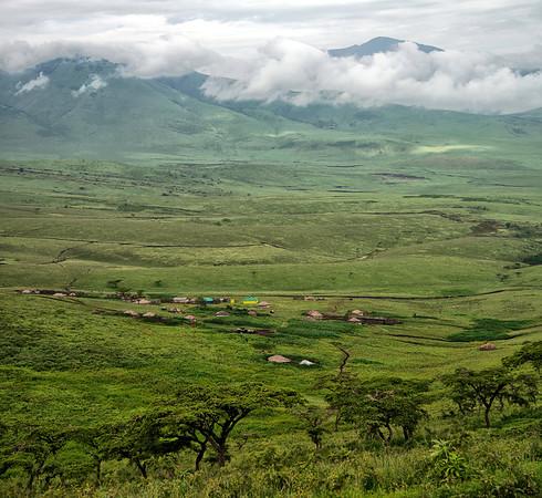 Maasai Village near Ngorongoro