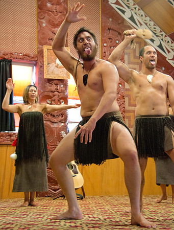 Rotorua performance of the Haka (Great War Dance)