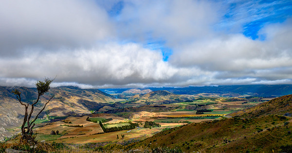 View from Cardrona Mountains to Queenstown area