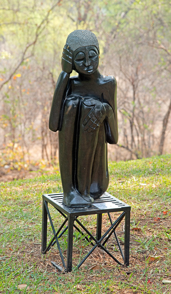 Sculpture in the Garden of the Victoria Falls Hotel