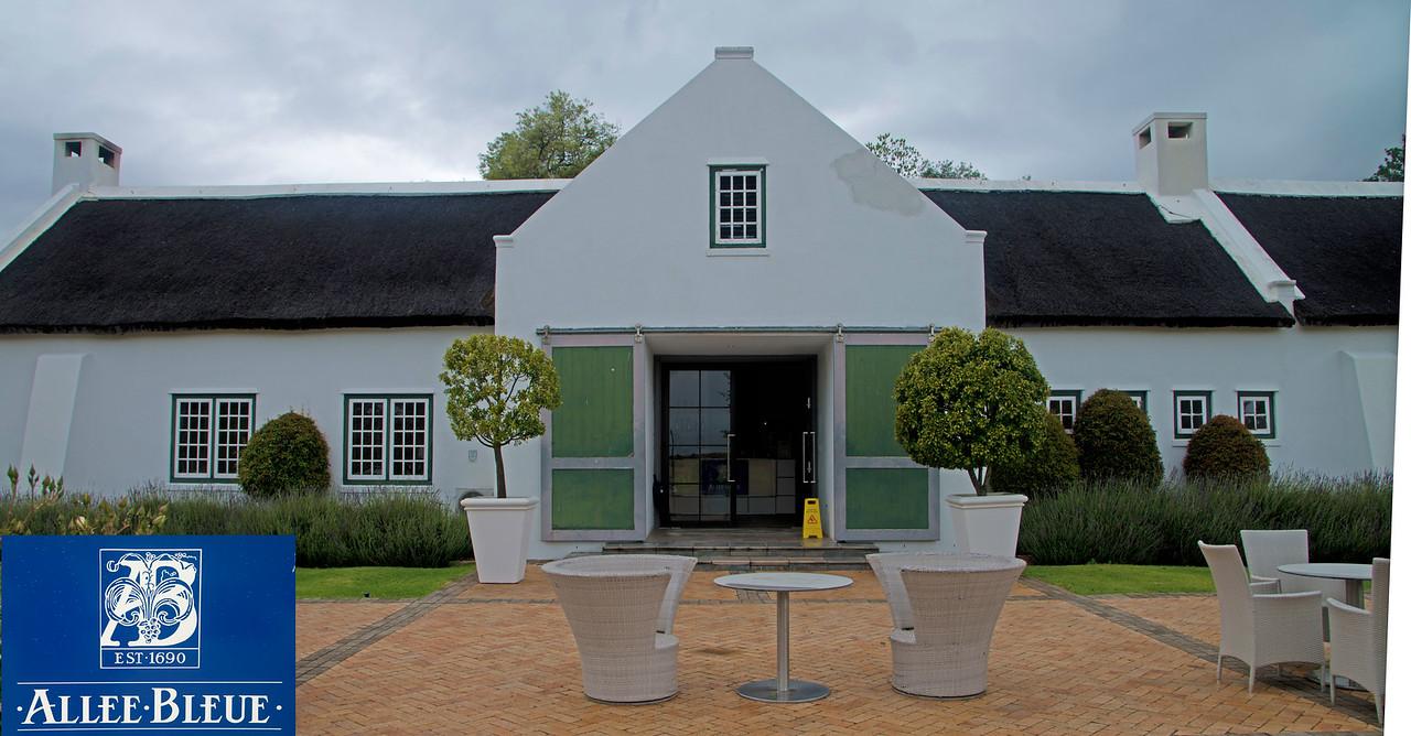 Allee Bleue Winery in Franschhoek