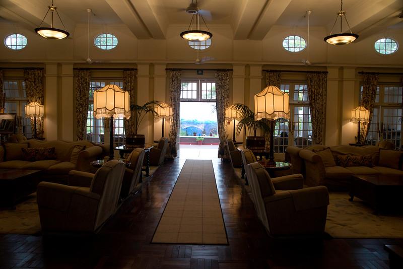 Inside the Victoria Falls Hotel
