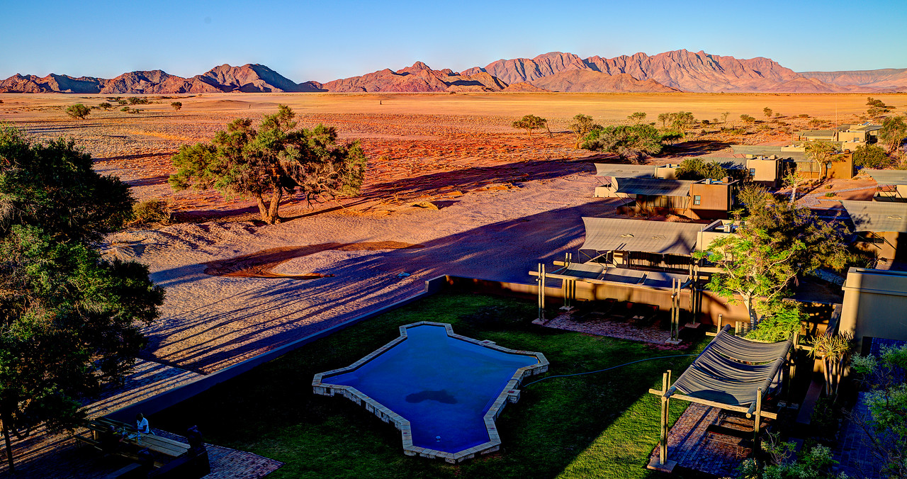 Late Afternoon Scene at the Sossusvlei Lodge