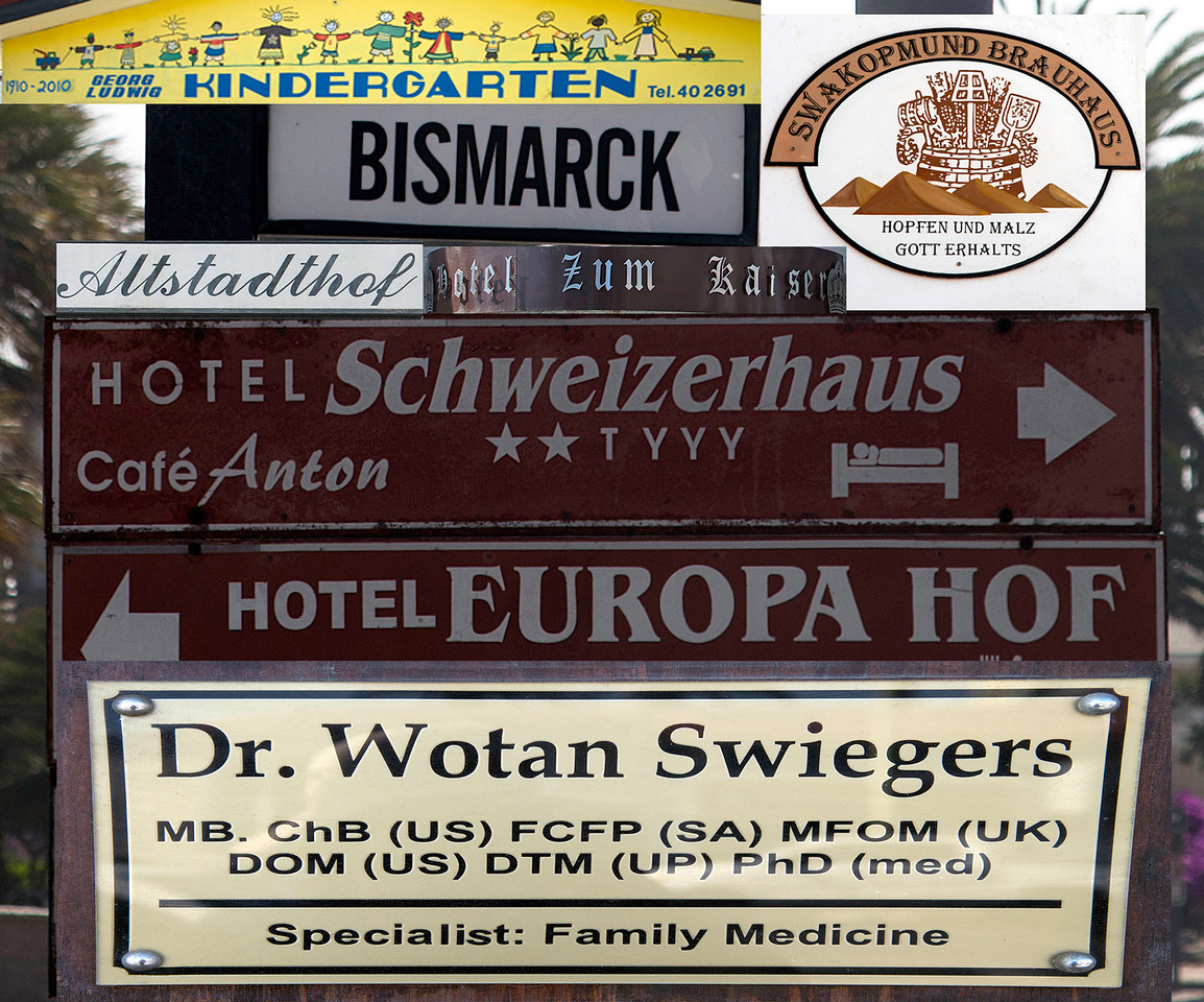 Swakopmund Signs--the German Colonial Period is Still Alive