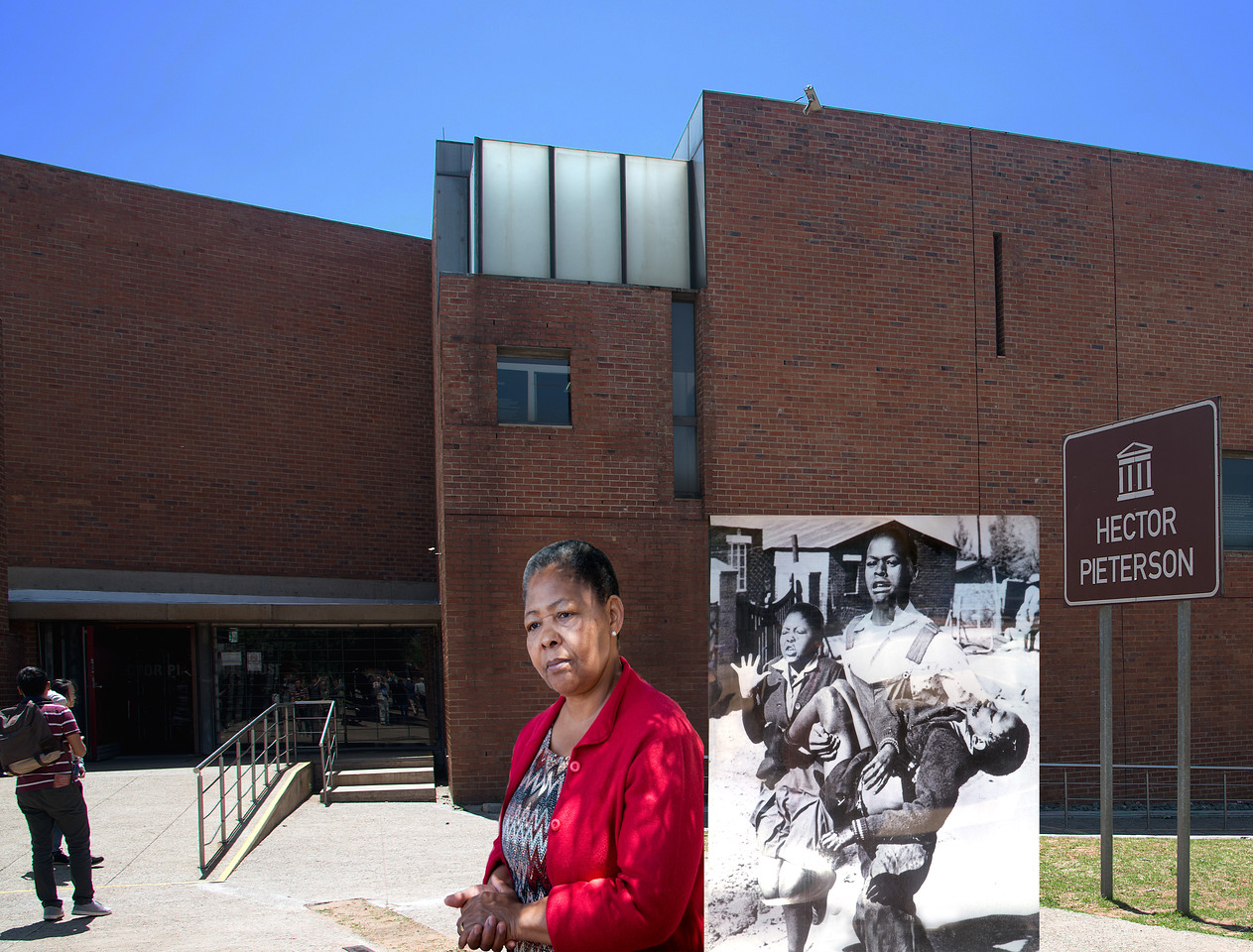 Hector Pieterson Museum with Antonetta, Hector's Sister