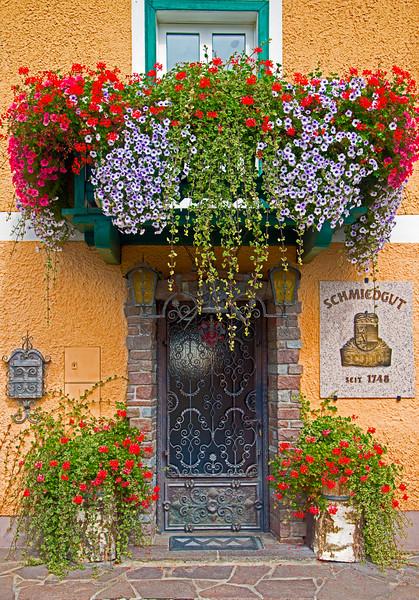 Alpine House Entrance, Salzburg, Austria