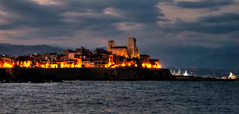 Antibes, France, at Night