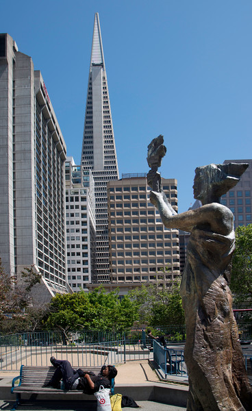 San Francisco Downtown with Transamerica Building