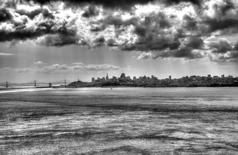 A View of San Francisco From the Golden Gate Bridge