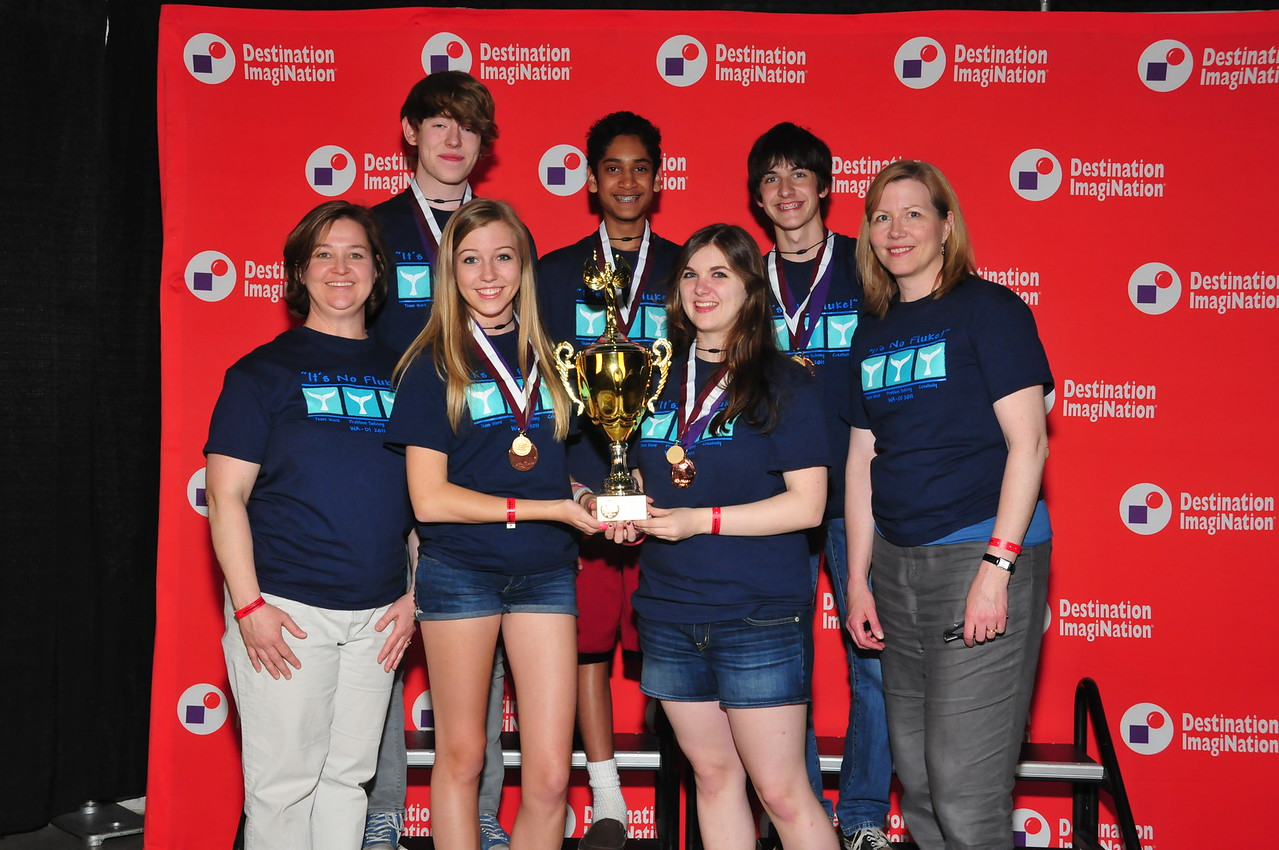 3rd Place and Renaissance award, Secondary Level Spinning a Tale: Da Improvs, Bellevue, Washington