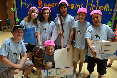 The Dream Team from Washington competes in the elementary level of The World Canvas.