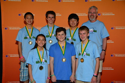 "The Illusion (Mercer Island).  4th place & High IC score in Structural Challenge ""Twist-O-Rama"" Secondary Level Challenge"