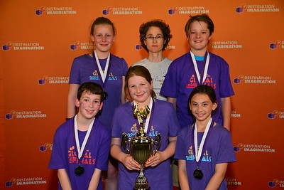"Infinite Ideas (Bainbridge Island).  2nd Place in Improvisation Challenge, ""Pandemonium"",  Elementary Level, 147-78039"