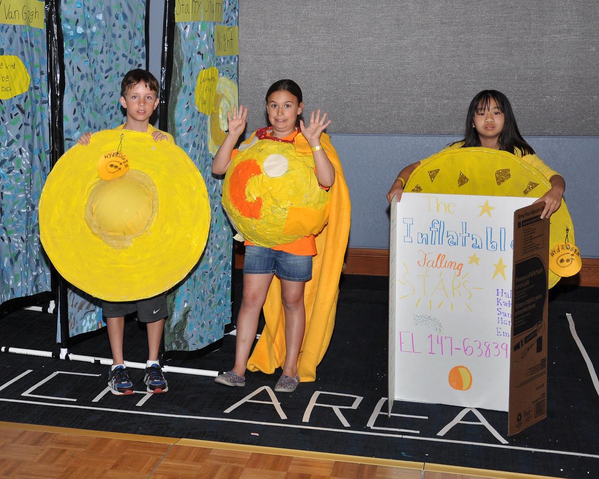 "Inflatable Falling Stars, Inflatable Falling Stars, Bellevue, Washington, Fine Arts Challenge, ""Laugh Art Loud"",, Elementary Level, 147-63836"