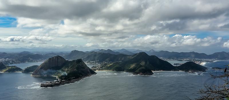 View from Pão-de-Açucar (Sugar Loaf), Rio de Janeiro - Brasil