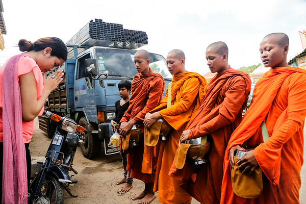 Buddhist perfomance - Siem Reap, Cambodja
