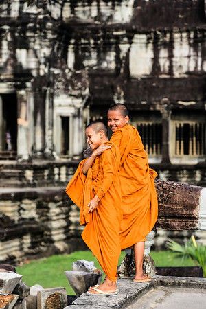 Young Monks in Agkor Wat - Cambodja