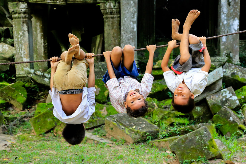 Boys will be Boys - Angkor, Cambodja