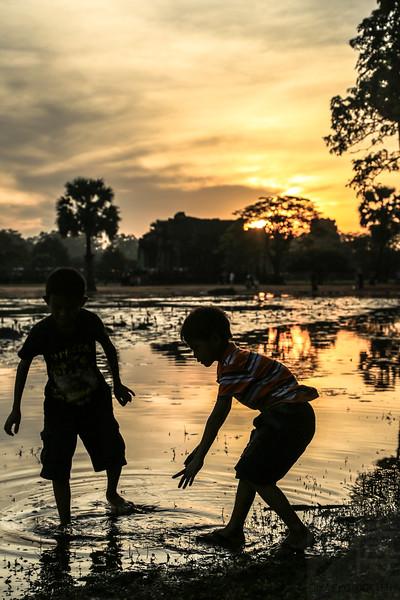 In Angkor - Cambodja