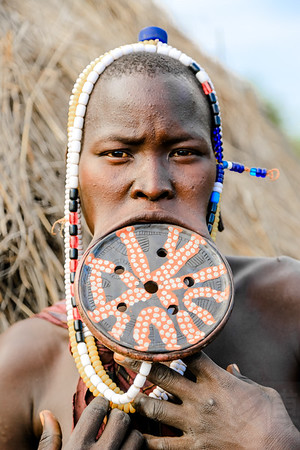Mursi Woman - Omo Valley, Ethiopia