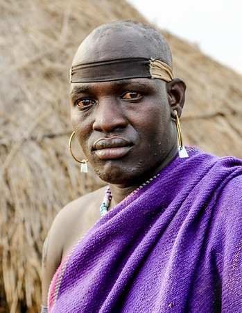 Mursi Man - Omo Valley, Ethiopia