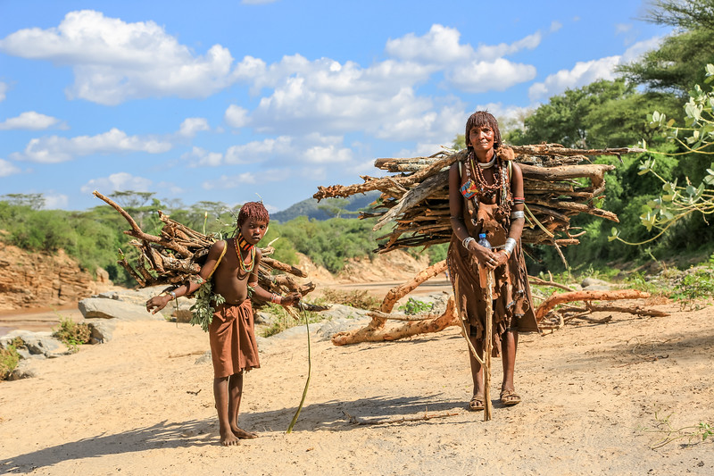 Hammer Woman and Girl - Omo Valley, Ethiopia